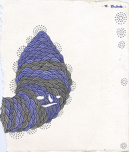 Black and Blue Worm drawing by R Bubnis on Flickr.