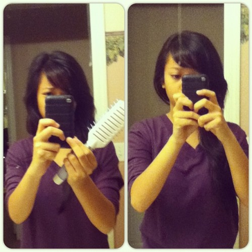 Before y after I do my hair lol. 💁 (Taken with Instagram)