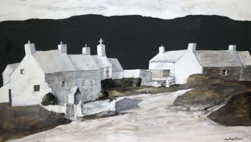 poboh:  Abereiddy Cottages, John Knapp-Fisher. English, born in 1931.