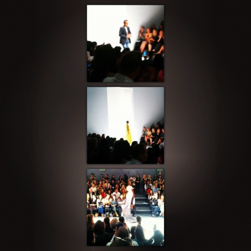 @bibhumohapatra ss13 feminine, flowy & colorful #nyfw #fashion (Taken with Instagram)