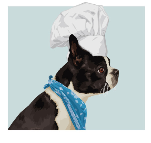 Doggie Chef. Another piece in a continuing series for a real estate development group in Boston. I could work on this series forever - really fun!