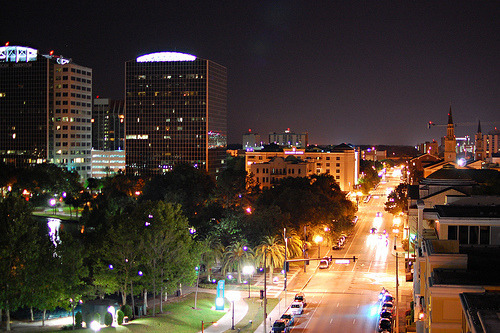 Another beautiful pic of downtown Orlando, I never get tired of these.  This one is right by Lake Eola overlooking Rosalind Avenue.  Our office is at the far end of this street close to the 408 by the new construction for the Dr. Phillips Performing Art Center