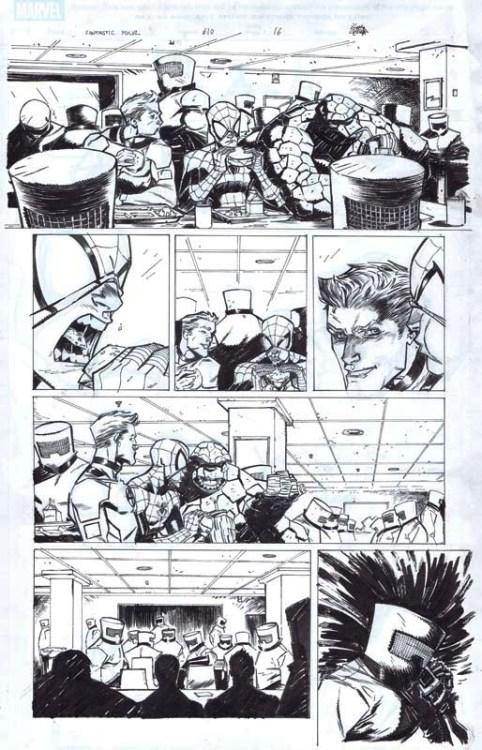 cadencecomicart:  Fantastic Four #610 page 16 by Ryan Stegman Fantastic Four #610 pages are now available for sale HERE