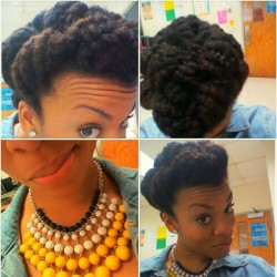 #hotd Pinned Up! #naturahair #naturalhairsistas #teamnatural & I love this #necklace! It's from the #thrift  (Taken with Instagram at Ruffner)