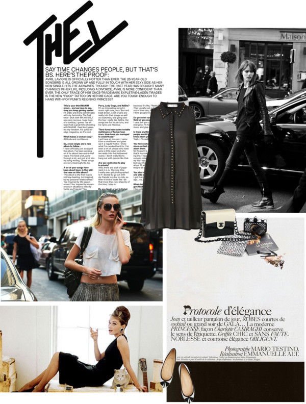 B&W again by glamourtess featuring a sleeveless blouseSleeveless blouse, $74 / Christian Louboutin ballet shoes, $730 / La Sardina Lomography Camera in Domino