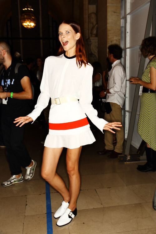 Victoria Beckham SS13 Fashion Show New York Backstage, click here for more photos.
