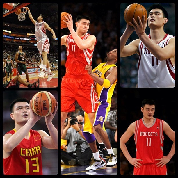 Happy Birthday: Yao Ming  September 12, 1980 - Yao Ming is a retired Chinese professional basketball player who last played for the Houston Rockets of the National Basketball Association (NBA). At the time of his final season, he was the tallest active player in the NBA, at 2.29 m (7 ft 6 in).  theofficialkeepinitrealsports.blogspot.com  keepinitrealsports.tumblr.com  pinterest.com/mysterkeepinit  Instagram - @Myster_Keepinit  Twitter - @MysterKeepinit  keepinitrealsports.wordpress.com  flickr.com/keepinit_real_sports  #keepinitrealsports #HappyBirthday #YaoMing #Chinese #Houston #Rockets #Sports #MysterKeepinit  (Taken with Instagram)