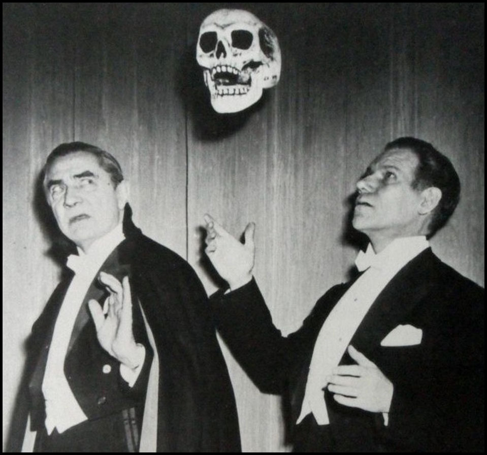 panicbeats:  Bela Lugosi with spook show magician Bill Neff (1947)