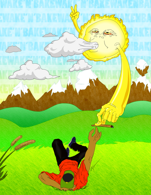 greenburntoblack:  I rise to smoke with the sun