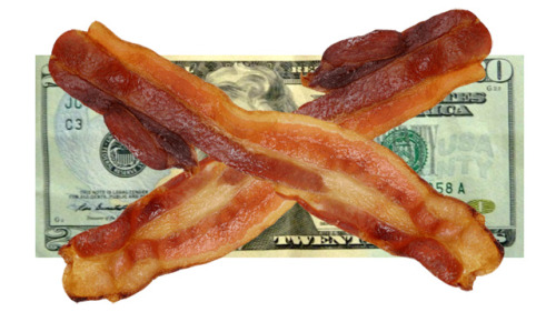 Bacon as Currency?  Hell yes! Comedian Josh Sankey is apparently driving coast to coast armed with 3000 pounds of bacon for an Oscar Mayer promotion/sociology experiment.  Sankey is using bacon as currency and bartering his way across the country.  So far, so good.  The only real shock is that he hasn't been car jacked by the cast of The Biggest Loser, yet.  You can read about Josh's journey here.