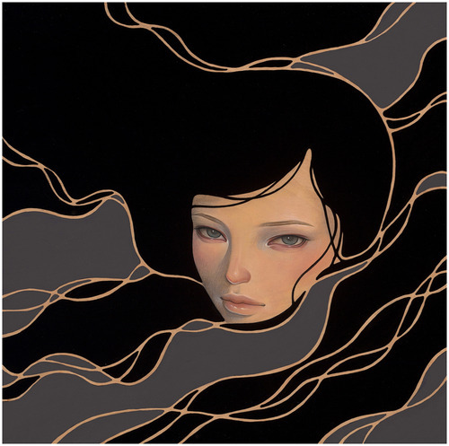 "supersonicelectronic:   Audrey Kawasaki. More paintings by Audrey Kawasaki from her solo show, ""Midnight Reverie,"" which is currently up until October 6th, 2012 at Jonathan LeVine Gallery in New York City. Read More"