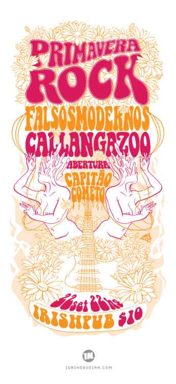 Flyer para o evento Primavera Rock.