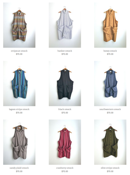new smocks in ze shop!  get em while they're hot!