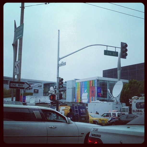 Kind of a mob scene over by Moscone. Oracle World again already? (Taken with Instagram)