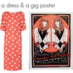 dress by Callula Lillibelle, poster by Keegan Wenkman