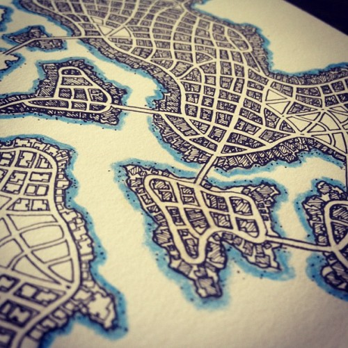 More progress on map. Should be done this week. (Taken with Instagram)