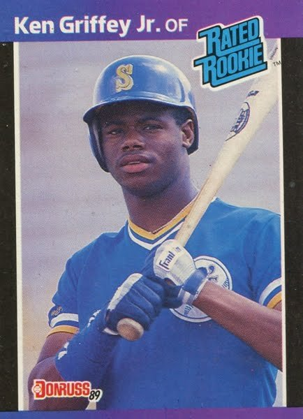 The Kid. Fun fact, I own this card and actually wrote Griffey's rookie year stats into the grid on the back. Great job! Thanks to Griffey, this game exists.