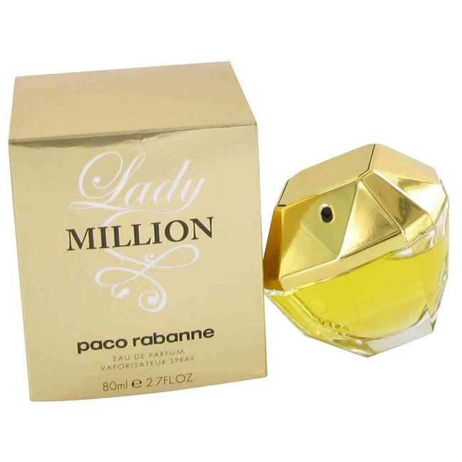 LADY MILLION by Paco Rabanne 2.7 oz EDP Perfume NIB http://www.ebay.com/itm/LADY-MILLION-by-Paco-Rabanne-2-7-oz-EDP-Perfume-NIB-/120721023212?forcev4exp=true US $68.13