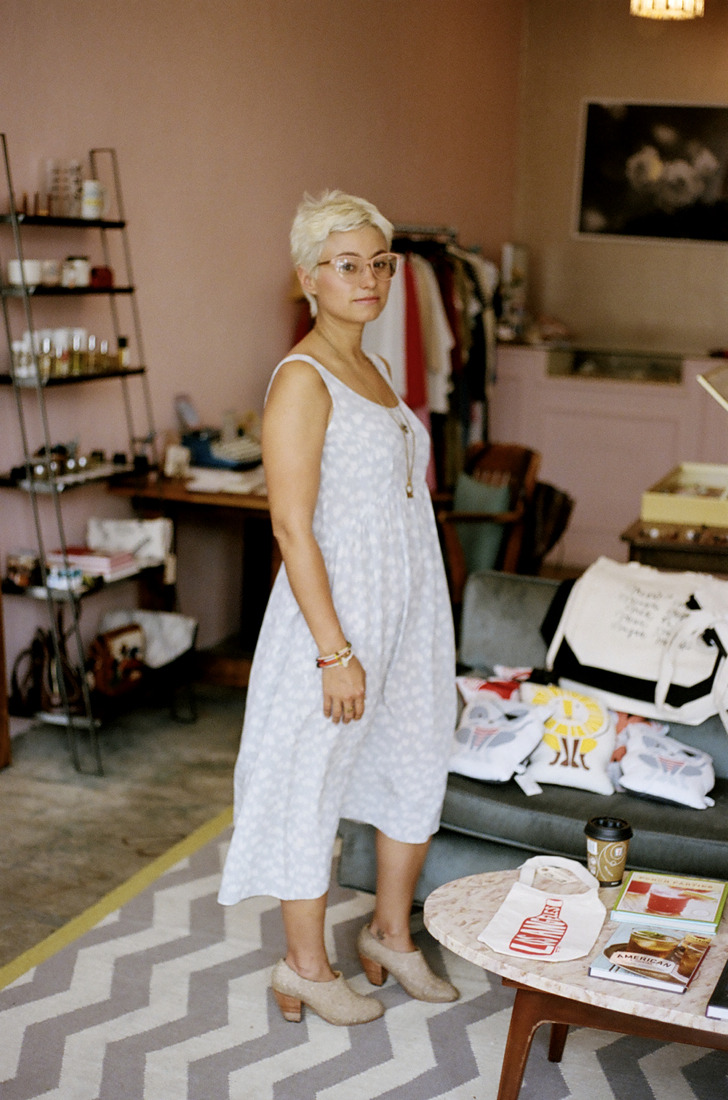 whitney bickers, the lovely owner of myrtle.los angeles, california.august 2012.