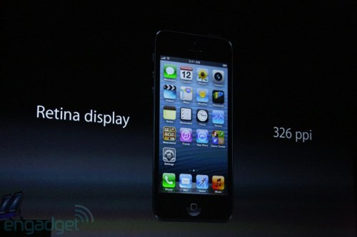 hotpinkcoldmonster:  shortformblog:  iPhone 5 Details: The iPhone 5 is 18% thinner, and 20% lighter, than the iPhone 4S. It's also made entirely of glass and aluminum. And, of course, it will ship with a 4-inch Retina display. (Photo via Engadget) source  ded  And the interface still sucks. :p