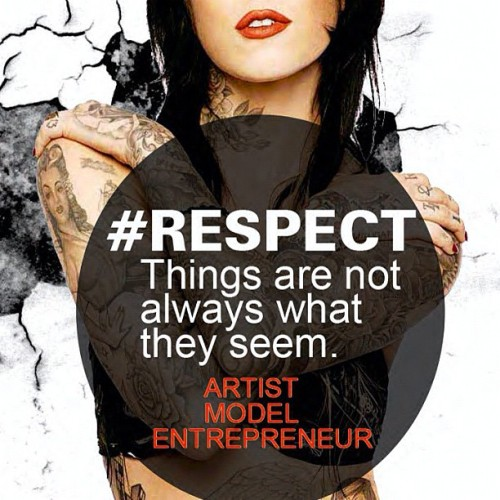 Kay Von d #respect design by 6mic films make sure to follow on Facebook twitter pinterest and YouTube. #tatt #tattoo #ink #inked #model #skin #art #quote #instapic #qotd #love #support #dove #watwr #ipad #iphone5 #new #6micfilms #modelfolio #open #mind #day #photo #pic #bodyart (Taken with Instagram at Nob Hill Executive Center)
