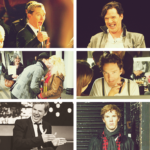 Benedict Cumberbatch being fucking adorkable.  How does one manage to be adorable even while jumping out of an airplane?