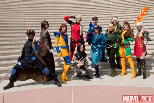 marvelentertainment:   Who were some of your favorite Marvel cosplayers at Comic-Con International: San Diego? Photo by Nicole Ciaramella (Source: marvel.com)   Why, these lovely people!! With particular love to my girl Mia Ballistic as Kitty Pryde, of course <3