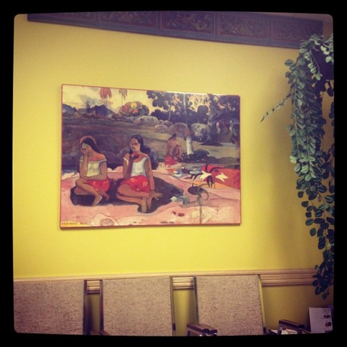 My endocrinologist's waiting room is Gauguin-themed. (Taken with Instagram)