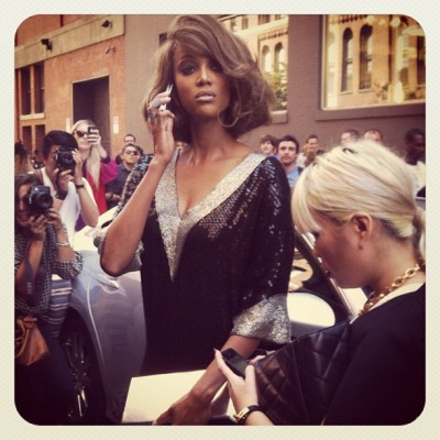 #NYFW   Tyra Banks outside the Jeremy Scottshow shot by Billy Rood (Taken with Instagram)