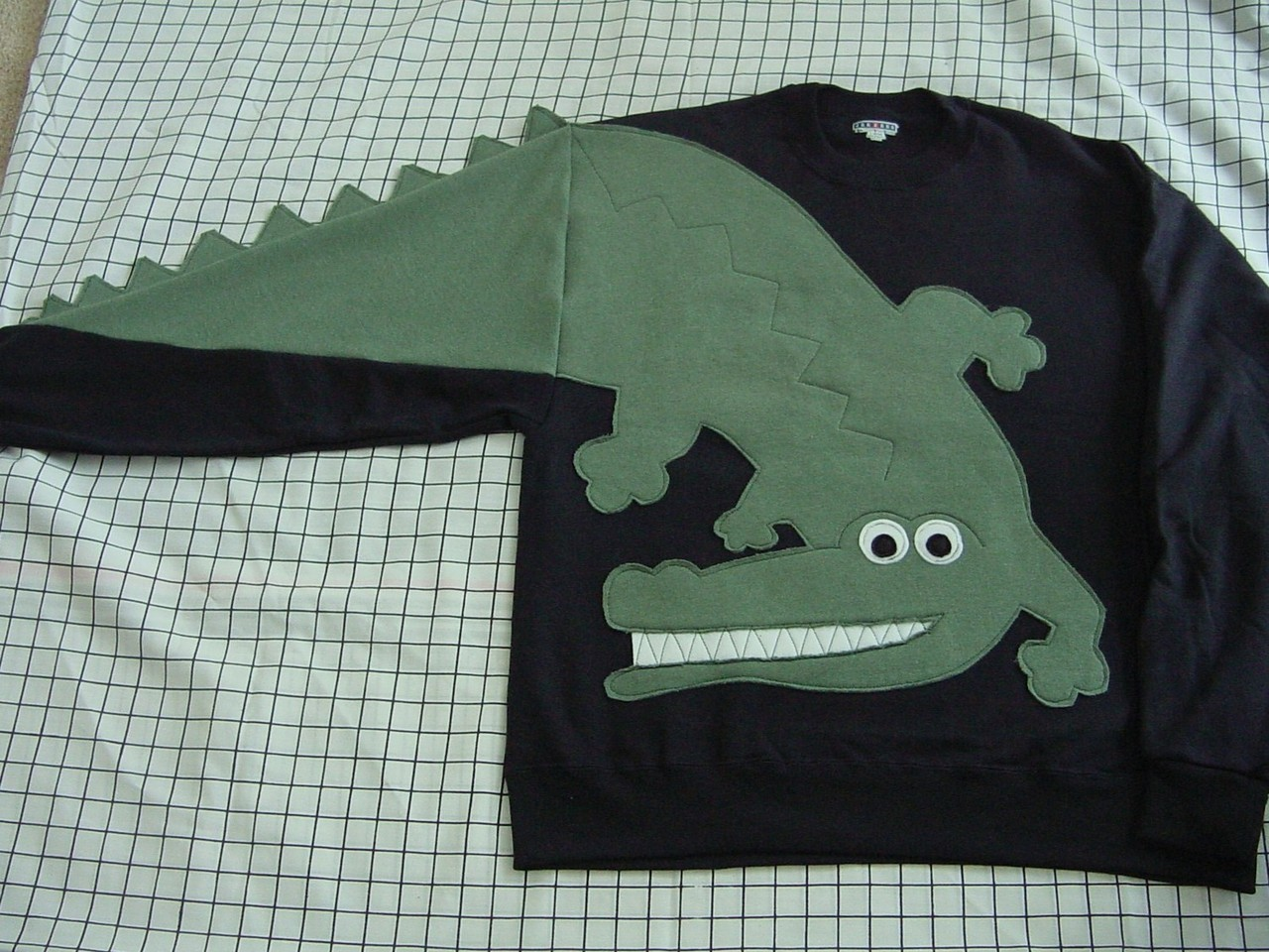 Alligator Sweatshirt Sold on Etsy.