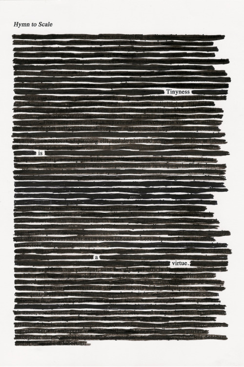 "hitrecord:   ""hymn to scale"" (Blackout Poetry) REmix by tori Text REsource by videotroph   More at hitrecord.org→"