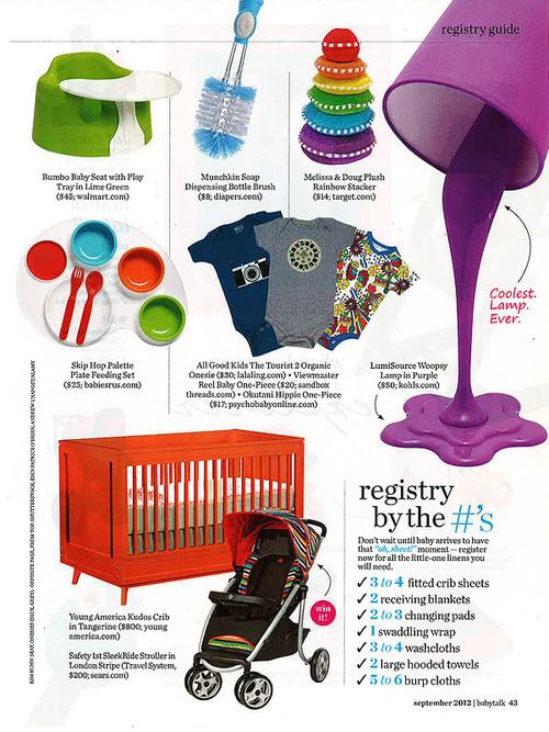 Young America Crib in Babytalk Magazine, September 2012