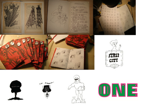 Year One- Zines project + Print to Pixel animation stills.