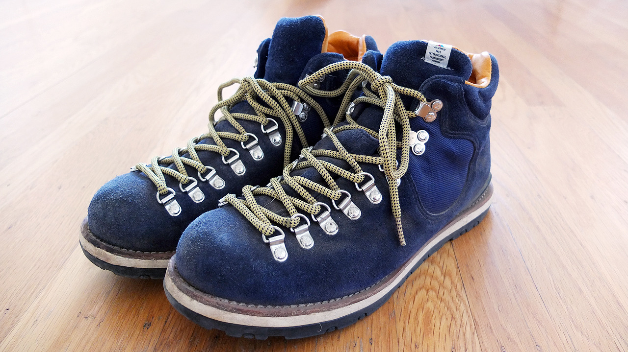 Visvim Serra hiking boots - Created using a premium suede cowhide upper, the boots are fitted with the same natural cork footbed you find in most of their boots for comfort and stability. Enhanced with leather welt construction and rugged outsoles, the high durability of the boots is matched with its quality. Completing the wealth of materials are the EVA Phylon midsole and cowhide lining which is said to increase the boot's breathability. I hike in them pretty rigorously even though it comes with a tag that tells you explicitly not to. You can buy hiking boots from REI that are very similar and a fraction of the price. This is one of the few possessions where I don't think I'll be able to justify the price per hour unless they are the last hiking boots I'll ever have to buy. We'll have to see. ($650)