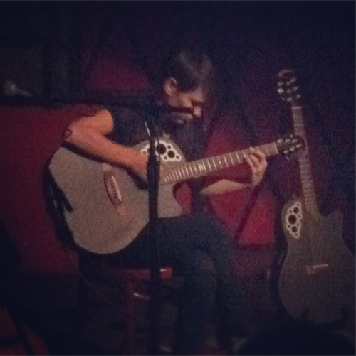 Kaki King played Rockwood last night, and swears these two guitars are very different. Her latest record Glow will be going for adds on October 2!