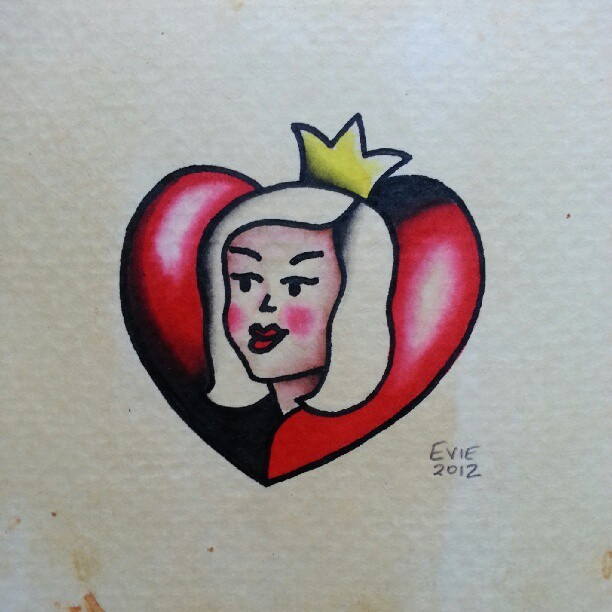 Queen of Hearts. (Taken with Instagram)