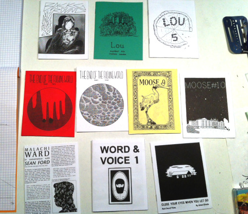 snakebomb:  Look at these great minis from my Oily Comics subscription: Background by Andy Burkholder, Lou by Melissa Mendes, The End of the Fucking World by Charles Forsman, Moose by Max de Radiguès, Malachi Ward interview, Word & Voice by Aaron Cockle and Close Your Eyes When You Let Go by James Hindle. Order issues via the Oily bigcartel and follow em on tumblr. Also look for Oily Comics at SPX this weekend, doggg.