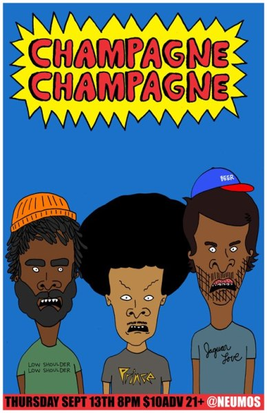 Who else is going to see Champagne Champagne at Neumos tomorrow, with Kung Foo Grip and Metal Chocolates? Tickets are just $10 in advance.