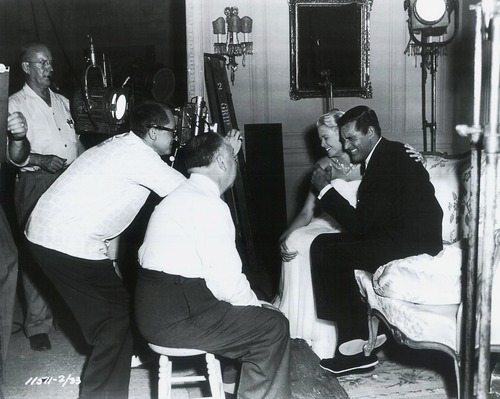 Grace Kelly, Cary Grant and Alfred Hitchcock on the set of To Catch a Thief.