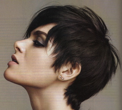 model pixie cut