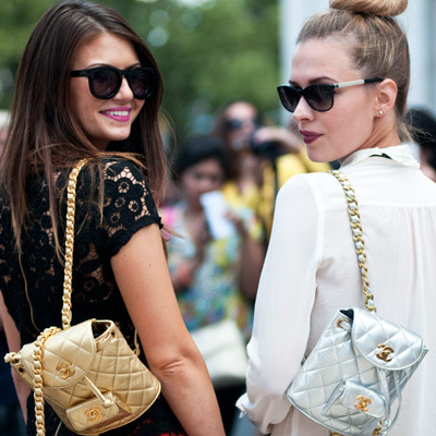 Corri and Erin take on #NYFW Photo via MarieClaire.com