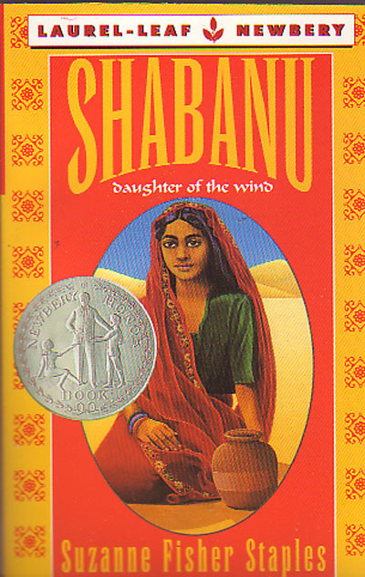"This is ""Shabanu"" by Suzanne Fisher Staples. In 2002, I was in the seventh grade. It was, obviously, the year after the 9/11 attack. My English teacher that year was a woman who changed my life in many ways - one of those truly inspiring teachers. She picked out this book for our class to read. It's about a young girl growing up in Pakistan - her name is Shabanu - and she's 12 years old in the story (if I remember correctly). She's Muslim, and while there are details about the Islamic religion throughout the story - such as practicing Ramadan - it's not a huge focal point of the story.  It's really just a story about a family - they have to deal with things like a drought, taking care of their farm, who her and her sister are going to mary and issues with finances. It was a great read. My teacher picked this book to prove a point. To show us that yes, the U.S. was attacked by extremist members of a religious group, but not everyone in that religion are bad people. Not everyone in a head scarf is a terrorist, not everyone from the middle east wants to kill us.  She chose this book for us to read so that we could connect to people outside our culture and show that they were like us - they are just people, trying to survive in a cruel world.  Parents of my class lost their shit. They couldn't believe we were reading a book about a muslim girl while the U.S. was at war in the middle east - only a year after the 9/11 attacks. Our class got to read and finish the book - which was great - but the school told my teacher she couldn't teach this book again. She had to discard the entire class set (she ended up giving them to us) and wasn't allowed to teach it again. All she wanted to do was show us that it was wrong to discount an entire culture, multiple countries and groups of people, because of what a few of them did.  I think it was very bold of her to teach this book to begin with - probably knowing what backlash she would receive over it. I think we need stories like this to teach compassion towards each other. That we don't have to agree with each other, but we can refrain from stereotyping each other. I know this book had a huge impact on me and the other kids in my class - I know we walked out of that class feeling entirely different about Islamic culture, Muslims and Middle Eastern people in general after reading this. And that's exactly what our teacher wanted to achieve by making us read this book - and it was the so-called ""adults"" who couldn't handle their children learning compassion."
