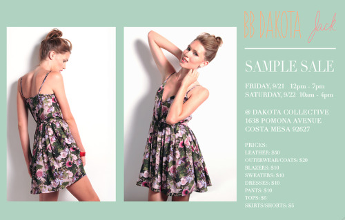 Our BB Dakota Sample Sale is right around the corner! That means $10 dresses, $5 tops, etc! Mark your calendars. For more information, here is the event on facebook: http://www.facebook.com/events/345738212186313/
