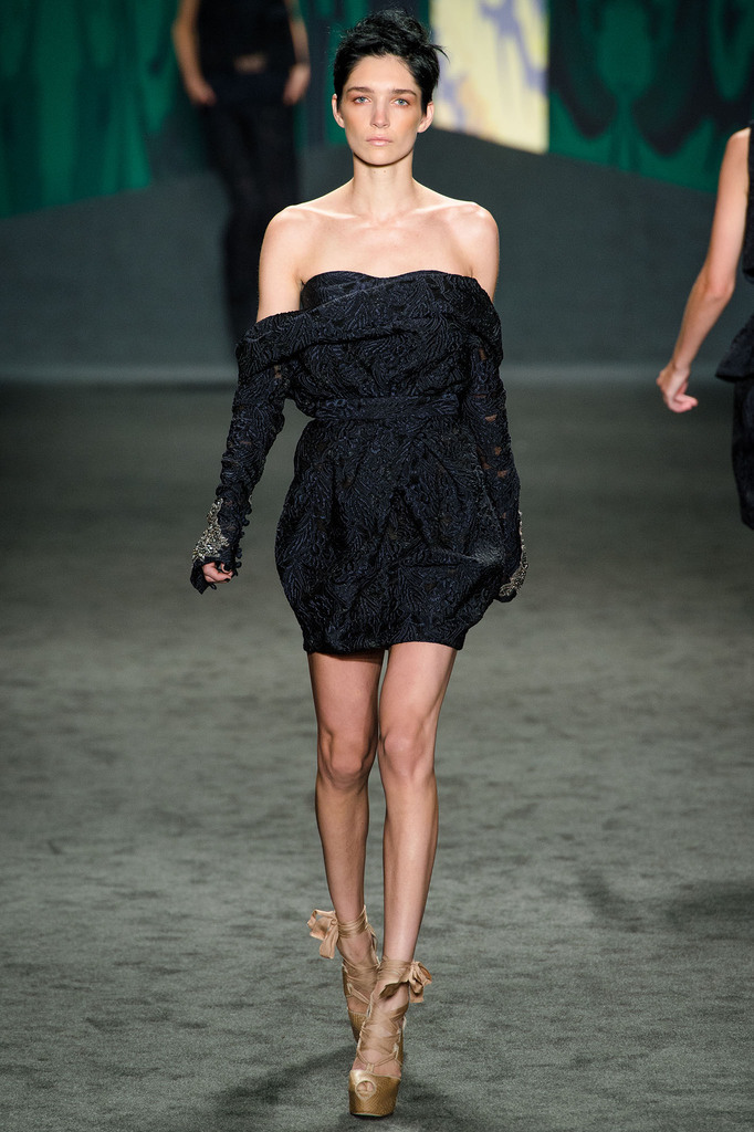 Janice Alida in Vera Wang, New York—S/S 2013
