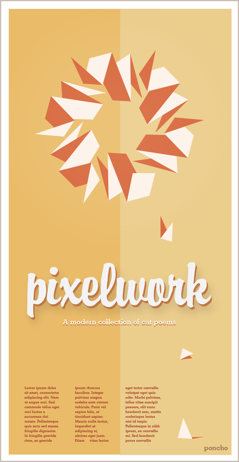 "Template Poster Design- Pixelwork "" A modern collection of cat poems"""