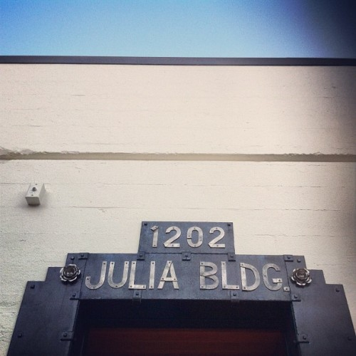 Julia Building in NW #portland. #ironwork #metalsmith #rose #cityofroses #nwpdx #pdx #wall #sky #building (Taken with Instagram)