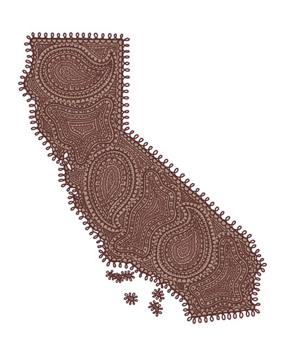 California Paisley. Digital 2012. :) Part of batch #2 for the Paisley State Series!