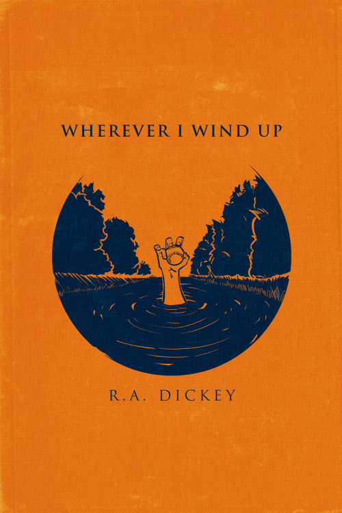 nobodypeople:A month or so ago I finished reading Wherever I Wind Up by the Mets pitcher R.A. Dickey.  As a Mets fan since the day I was born, and simply a baseball fan, it has been thrilling to watch how well Dickey has been playing and inspiring to witness how famous his story has become.   Being a Mets fan is frustrating.  But seeing a Mets player succeed as much as R.A. has so far,  and with such a unique story has eased some pain.  The guy is already a legend.After finishing the book I found myself wanting to create a cover of my own.Dickey's turning point came a few years ago when he nearly drowned in the Missouri River after trying to prove he could swim across it.  The life-threatening situation not only changed his outlook on life, but as crazy as it sounds his philosophy on pitching.  Here he is rising out of the river, already trying to aim his next knuckleball.  Here's to R.A. and him hopefully winning a Cy Young Award this year.…Which couldn't hurt his chances at selling the rights to his story for a movie deal.  The ending would be a little too perfect.