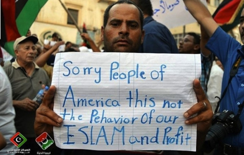 joshsternberg:  12 Photos of Libyans Apologizing To Americans — Buzzfeed