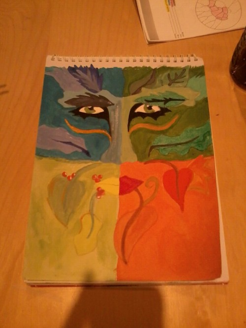 My version of the green man, every quarter is a different season :)